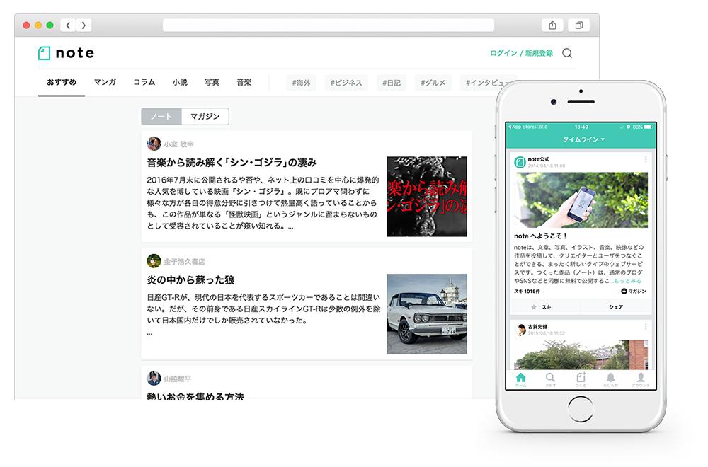note(アプリ/WEBメディア)